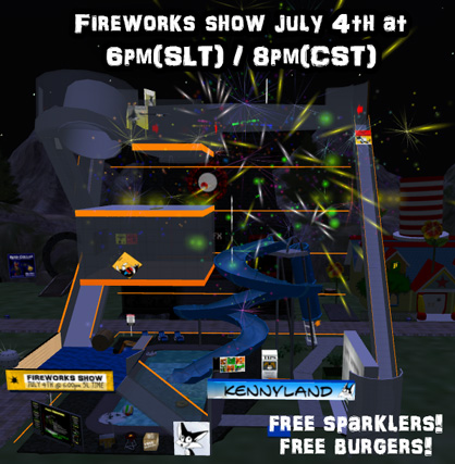 Fireworks in Second Life