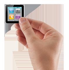 iPod Nano held with hand
