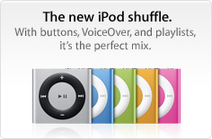 iPod Shuffle 4th generation now with buttons!