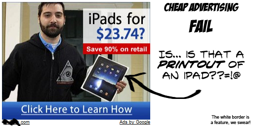 Cheap iPad advertising FAIL