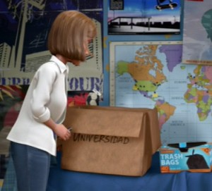Universidad - box from Spanish Toy Story 3